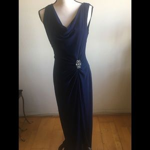 Elegant Navy evening dress size 10